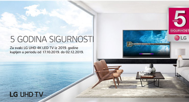 5 godina jamstva na LG televizore kupljene do 2.12.2019